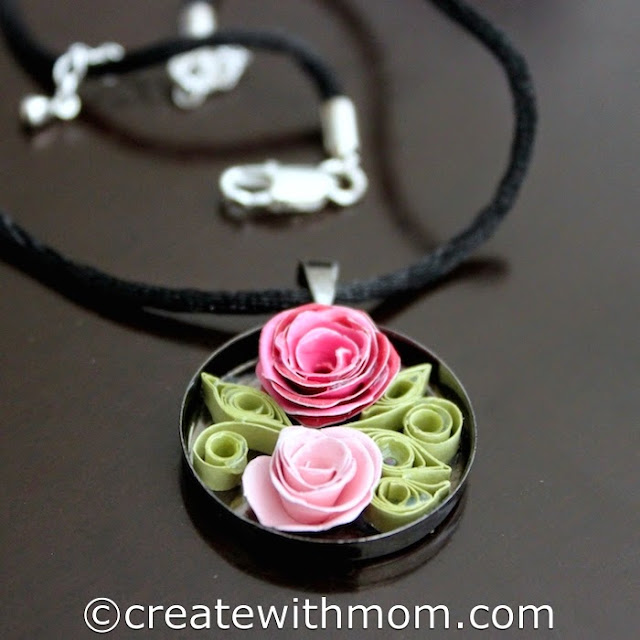 quilling flower jewelry