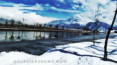 Katpana Lake In winters,Skardu Baltistan