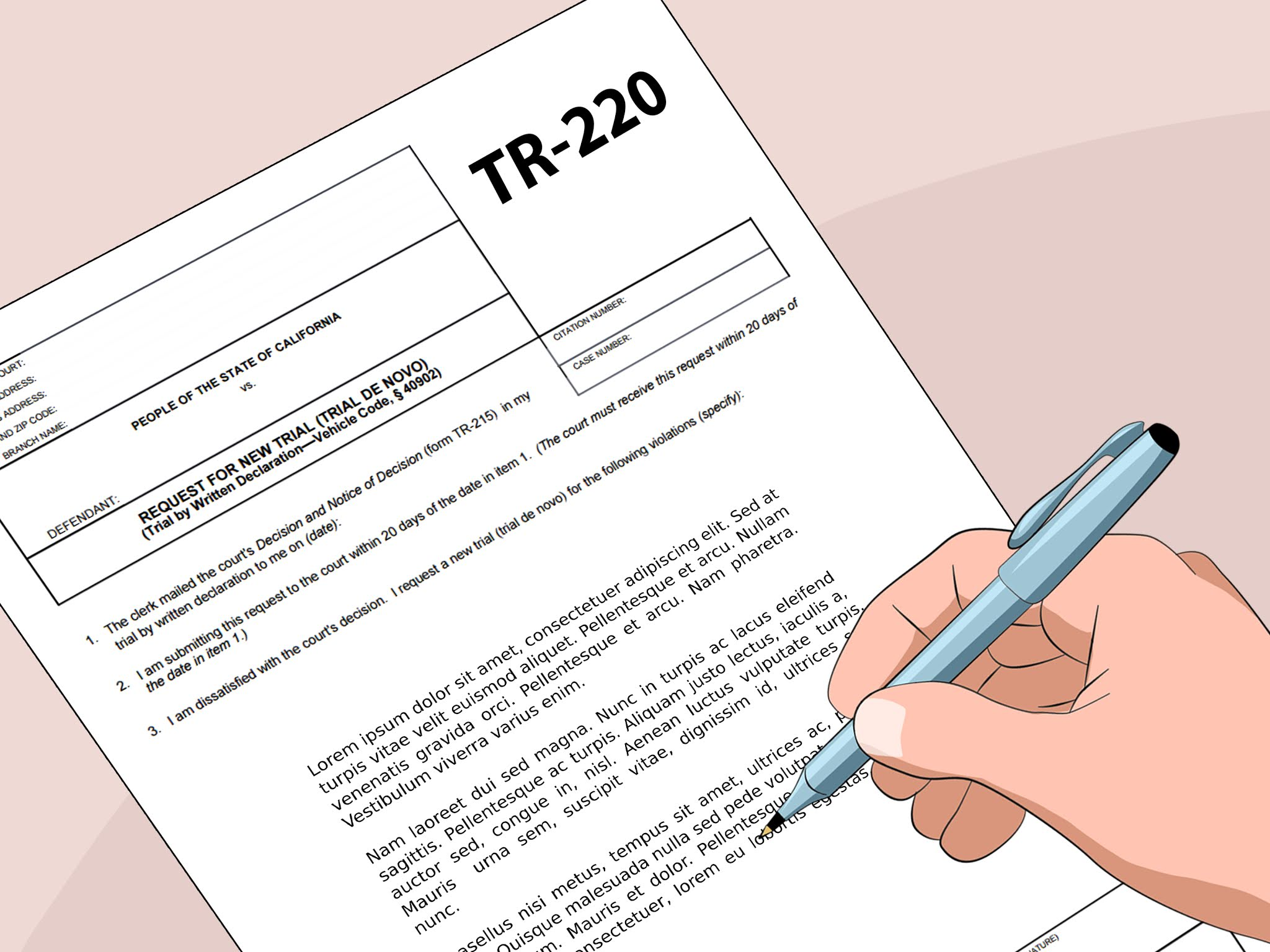 What Is A Trial By Written Declaration?
