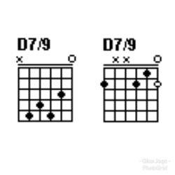 Chord gitar D7/9