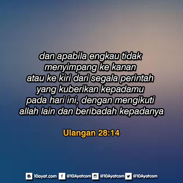 Ulangan 28:14