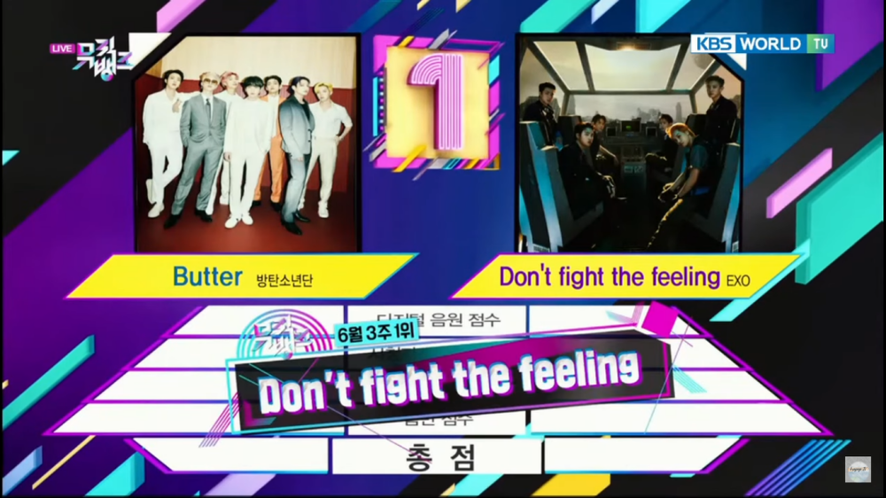 EXO Takes Home The 1st Trophy for 'Don't Fight The Feeling' on 'Music Bank'
