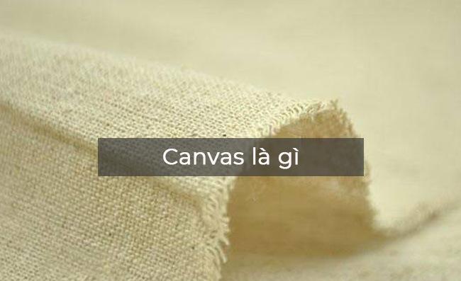 Mẫu vải canvas