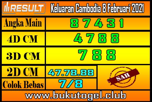 Keluaran Cambodia 8 Februari 2021