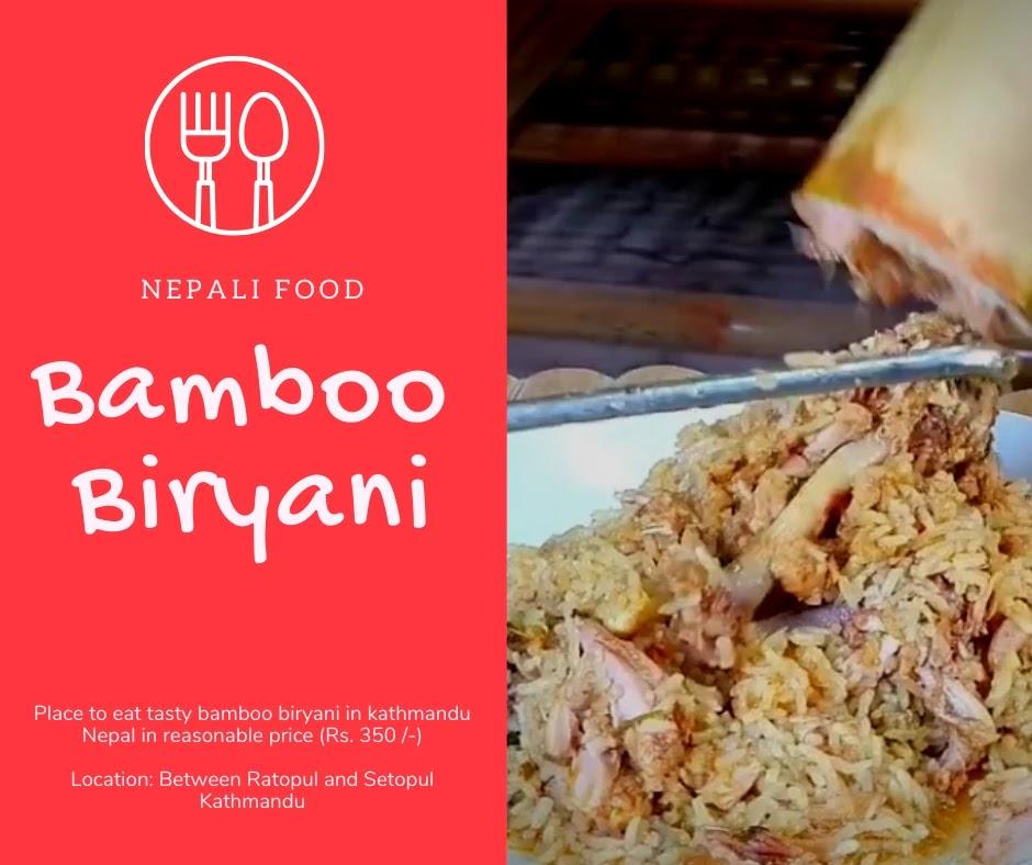Bamboo Biryani In Kathmandu Nepal With Menu