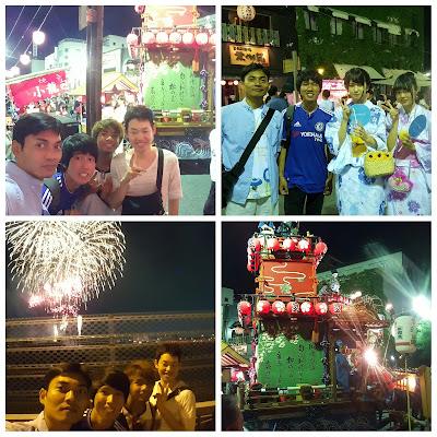 Suasana kembang api di Takasaki yang meriah