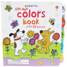 Usborne Lift-out colors book