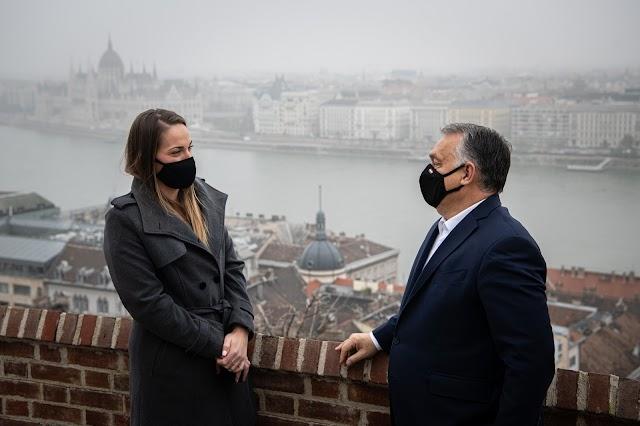 Babos Tímea volt Orbán Viktor vendége