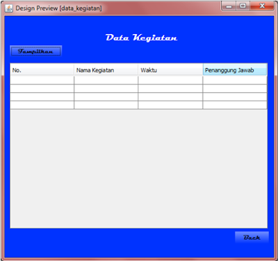 Kelas Informatika - Interface Preview Data Kegiatan