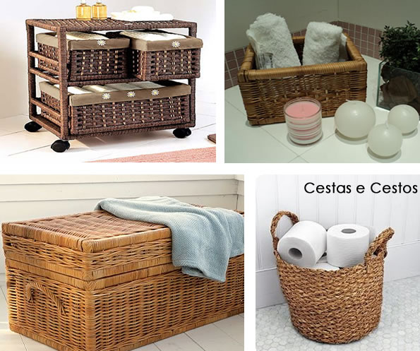 Love Diy Usando cestos na decoração -> Decoracao Banheiro Cestos