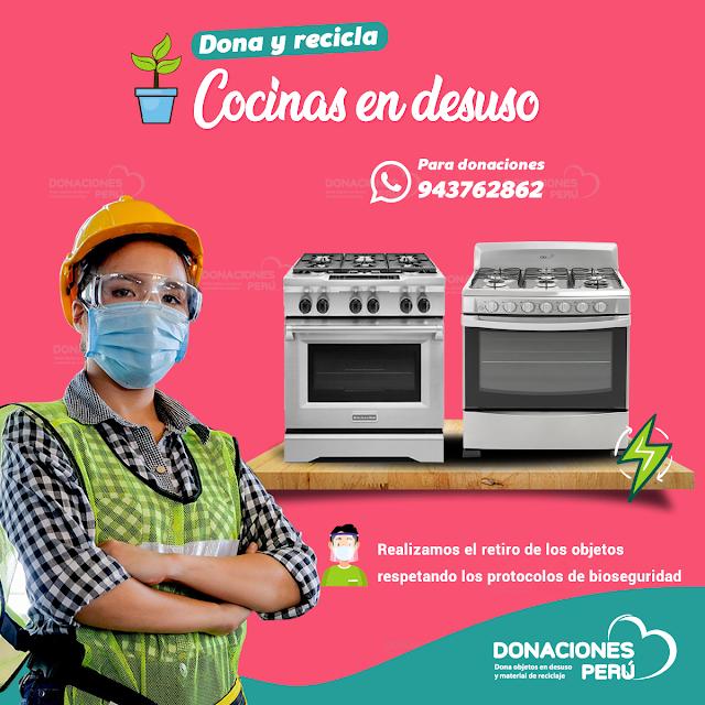 Dona y recicla cocinas en desuso