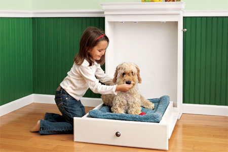Build a murphy bed for your dog to make them truly feel like one of the family