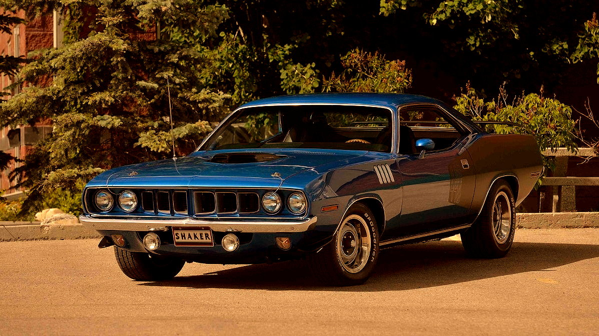 muscle car collection : muscle sport coupe car 1971 plymouth cuda 440