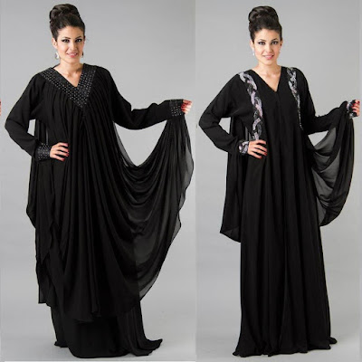 Latest arabian abaya designs with hijab collection for girls