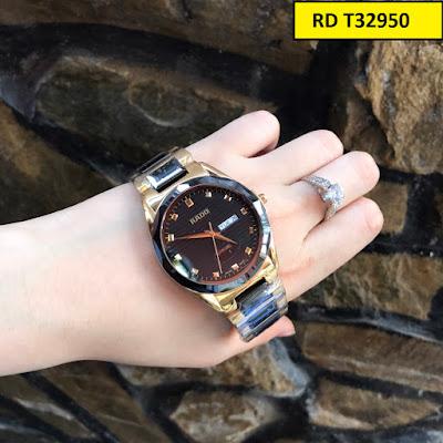 Đồng hồ đeo tay nam mặt tròn dây đá ceramic RD T32950