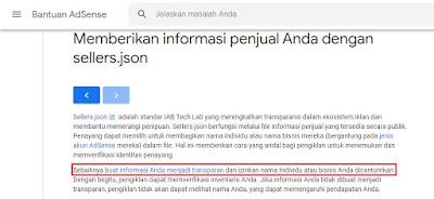file sellers.json bantuan google adsense