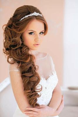 Peinado de novia de lado