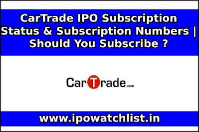 CarTrade IPO Subscription Status & Subscription Numbers