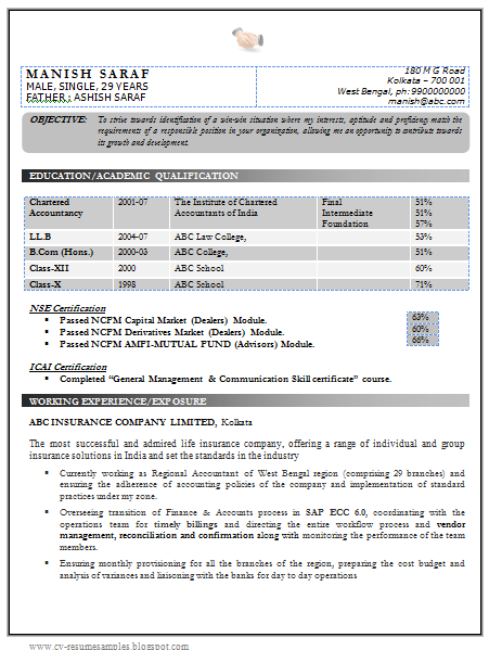 Experienced Accountant Resume acworldcuptk – Perfect Resume Format for Experience