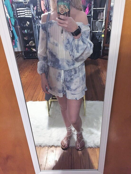 Delias tie-dye romper outfit of the day