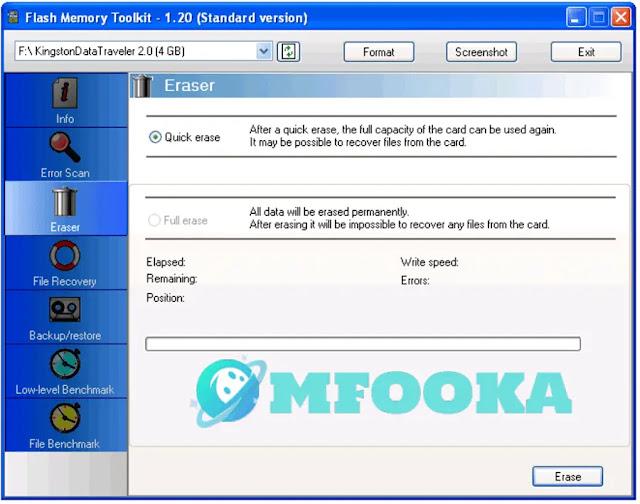 flash memory toolkit تحميل سوفت وير للفلاشة Kingston 8 جيجا