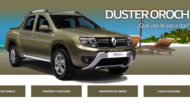 Renault Argentina abrió una sección especial dedicada a la Duster Oroch