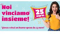 Logo Concorso ''Noi vinciamo Insieme'' : gira la ruota e vinci uno dei 600 buoni da 25€