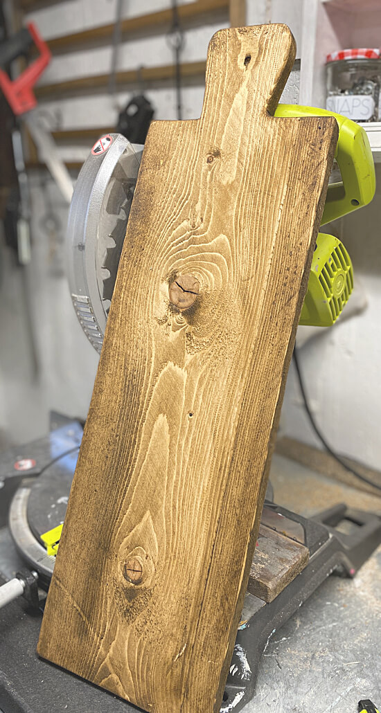 Stained bread board