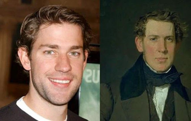John Krasinski and unknown portrait