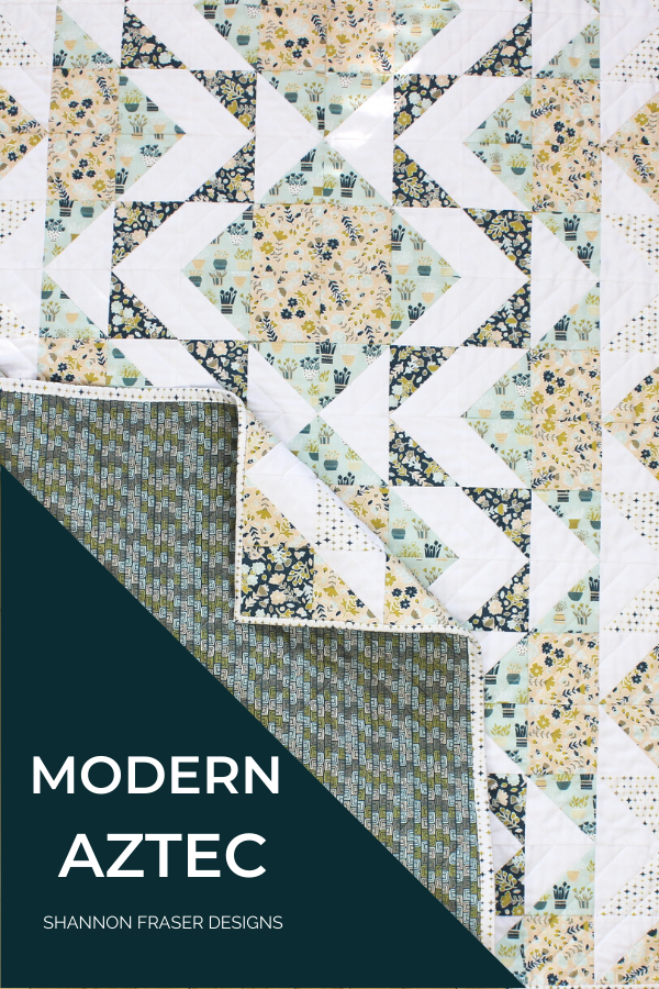 Modern Quilt | Neufchâtel Modern Aztec Crib Quilt | Shannon Fraser Designs #modernbabyquilt #quilts #babyquilt #modernnursery