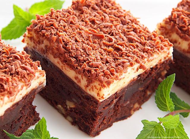 brownie z kremem mascarpone