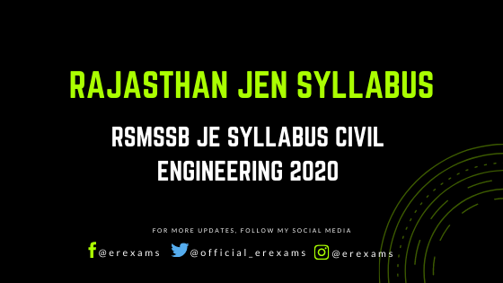 Rajasthan JEN Syllabus for Civil Engineering with Pdf Download  - ErExams - Engineering Exams Guidance RSS Feed  IMAGES, GIF, ANIMATED GIF, WALLPAPER, STICKER FOR WHATSAPP & FACEBOOK