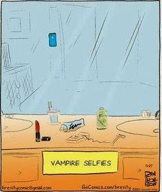Vampire selfies cartoon picture