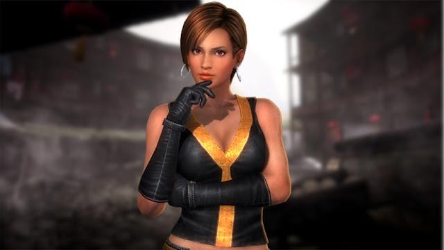 Lisa Hamilton wearing long black gloves