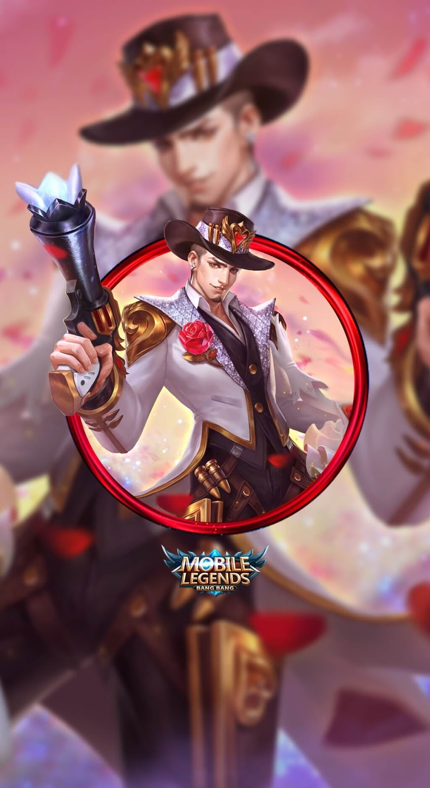 Wallpaper Clint Gun and Roses Skin Mobile Legends HD for Mobile