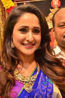 Pragya Jaiswal in colorful Saree looks stunning at inauguration of South India Shopping Mall at Madinaguda ~ Exclusive Celebrities Galleries 001