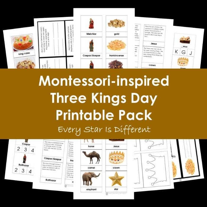 Montessori-inspired Three Kings Day Printable Pack
