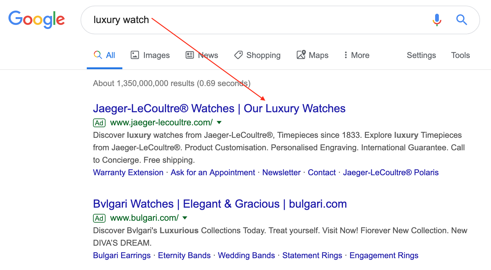 Google SEM: Include keyword in the ad header