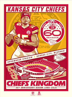 Kansas City Chiefs 50th Anniversary Screen Print by Stolitron x Phenom Gallery x NFL