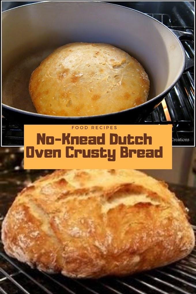 NO-KNEAD DUTCH OVEN CRUSTY BREAD