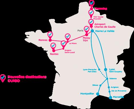 Les chroniques ferroviaires de for Ouibus interieur