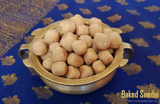 images of Baked Seedai Recipe / Uppu Seedai Recipe / Vella Seedai Recipe / Crispy Baked Uppu Cheedai