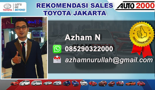 Rekomendasi Sales Toyota Jakarta Pusat 2018