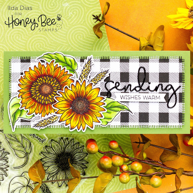 how to,blog hop,handmade card,Stamps,Giveaway,Honey Bee Stamps,Autumn Afternoon Release, Sweet Sunflowers, ilovedoingallthingscrafty,Fall,stamping,Die cutting,card making,