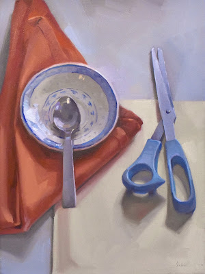 scissors painting art sarah sedwick