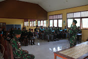Satgas Pamtas Yonif MR 411 Beri Edukasi Kepada Pelajar Di Perbatasan RI-PNG
