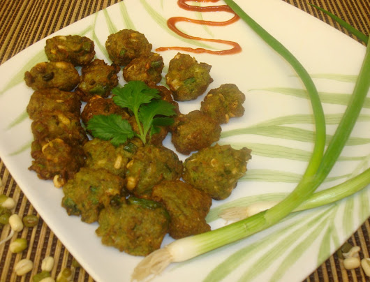 Green Moong Sprouts fritters