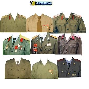 Mẩu áo quân phục ghép ảnh photoshop 04