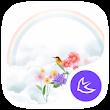Rainbow-APUS Launcher theme