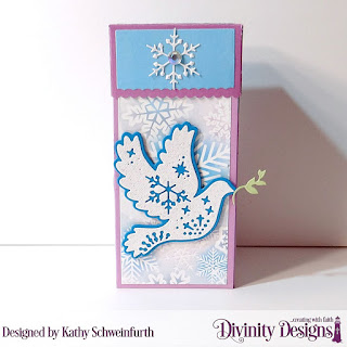 Custom Dies: Christmas Dove, Treat Tower, Paper Collection: Christmas 2019